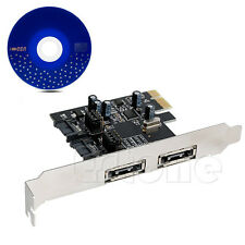 2 SATA 2 eSATA 6 Gbps 3.0 to PCI-E Express Control Card Adapter 6Gbps Converter
