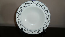 Coors China Co. Inglewood, Ca. USA Alox 69 Serving Bowl  White & Black Zig-Zag