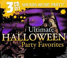 ULTIMATE HALLOWEEN PARTY FAVORITES: SPOOKY SONGS & SOUND EFFECTS 3-CD SET! RARE!
