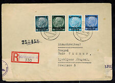 1940 Krakow Poland Germany GG Registered Cover to Ljubljana Yugoslavia