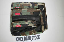 SUPREME MESH ORGANISER BAG CAMO GYM POUCH RED BLACK THE NORTH FACE