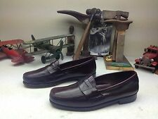 DOMINICAN MADE DEXTER BURGUNDY LEATHER SLIP[ ON PENNY LOAFER DRIVING SHOES 12D
