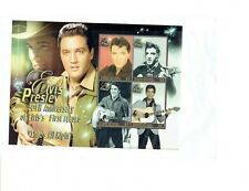 ELVIS PRESLEY 50TH ANNIVERSARY FIRST RECORD GRENADA $2 4 STAMPS ON SHEET