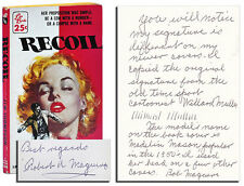 Jim Thompson-RECOIL (1956)-SIGNED BY ROBERT MAGUIRE, W/ALS BY MAGUIRE LAID IN