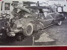 1950 PONTIAC CONVERTIBLE WRECKED 12 X 18 LARGE PICTURE  PHOTO