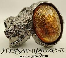 YVES SAINT LAURENT YSL Arty Silver-plated Cocktail Ring SZ5