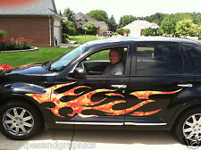 P/T Cruiser Chevy HHR SSR Flame Flames #2 FULL COLOR Side Graphics Decal Decals