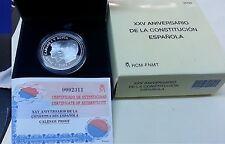 Año 2003. 10 EUROS DE PLATA. ESPAÑA. XXV Aniversario Constitución Española.