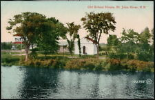 ST JOHN RIVER NEW BRUNSWICK CANADA Old School House Antique Postcard Vtg PC