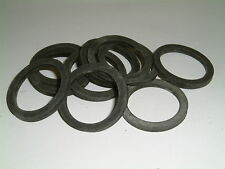 10 Rubber Washers 35.5mm O/D X 27mm I/D X 3mm Thk
