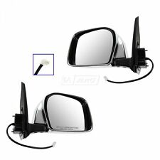 Power Chrome Mirrors Pair Set of 2 LH & RH for 00-04 Toyota Tacoma Pickup Truck