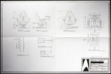 STAR TREK REPRO 1996 FIRST CONTACT CAPTAINS CHAIR ARTWORK BLUEPRINTS . NOT DVD