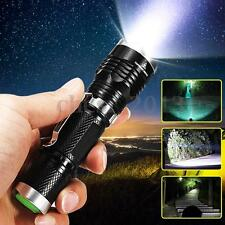 5000LM T6 LED Flashlight Torch 18650 Zoomable Focus Light Lamp Camping