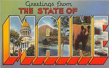 Large Letter Greetings from The State of Maine postcard
