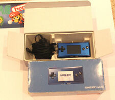 NINTENDO GAME BOY MICRO BLUE HANDHELD CONSOLE BOXED GAMEBOY SYSTEM TESTED RARE!