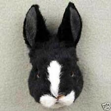 (3) LITTLE RABBITS: BLACK, WHITE & TAN RABBITS-Fur Refrigerator Magnets