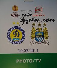 TICKET Photo/TV UEFA EL 2010/11 Dinamo Kiew - Manchester City