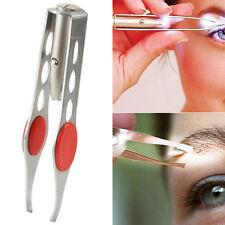 Neu Wimpern Augenbraue Haarentfernung Präzisions Pinzette Make-up mit LED Licht
