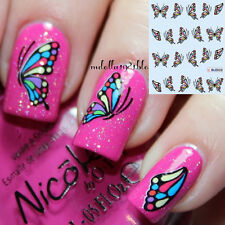 1Sheet Nail Art Water Decal Transfer Stickers Coloful Butterfly Printed Manicure