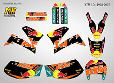 MX Graphics KTM LC4 1998-2007 Stickers Kit Decals