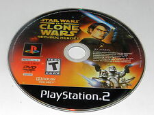 STAR WARS THE CLONE WARS REPUBLIC HEROES Playstation 2 PS2 DISC ONLY
