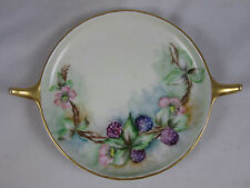 Antique Rosenthal Bavaria Donatello Blackberry Hand Painted Serving Tray Gold