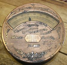 Antique Brass Weston Ammeter Electric House Meter Industrial Late 1800s
