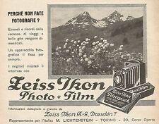 Z0815 Zeiss Ikon Photo e Film - Pubblicità del 1929 - Advertising
