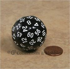 NEW Black D60 Sixty Sided Dice D&D RPG Game Koplow Random Time Seconds Minutes