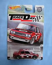 2016 HOT WHEELS  TRACK DAY  Datsun Bluebird 510 REAL RIDERS  Metal/Metal