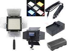 Yongnuo YN-160 II LED Video Light +Battery + Charger For Canon Nikon SLR Camera