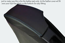 BLUE STITCHING FITS SEAT TOLEDO 2004-2008 LEATHER ARMREST SKIN COVER ONLY
