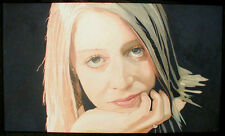 "ORIGINAL PHOTOREALISM PORTRAIT PAINTING ""AMY"" Signed Steve Greaves Girl Art"