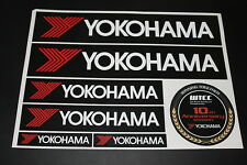 YOKOHAMA Reifen Tire Pneu Alufelgen Aufkleber Sticker Decal Kleber Logo BOGEN