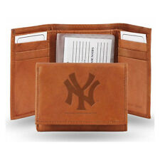 New York Yankees Official MLB Leather Trifold Wallet NY by Rico Industries