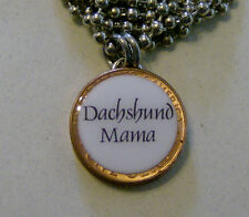 "Lucky Penny Pendant ""DACHSHUND MAMA"" Charm with 24"" Chain Necklace Dog Pets"