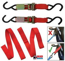 MOTO / MOTO TIE DOWN SET Inc Cricchetto CINGHIE & Easy Cinturini