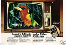Publicité advertising 1976 (2 pages) Téléviseur Couleur Philips