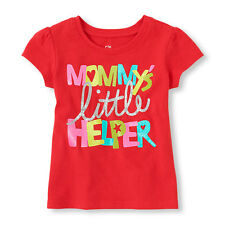 """*NEW*** """"MOMMY'S little HELPER"""" Baby Girls Graphic Shirt 2T 3T 4T Gift Mom Cute!"""