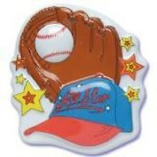 POP TOP CUPCAKE BIRTHDAY CAKE TOPPER BASEBALL SPORTS BASE BALL GLOVE TEE BOY
