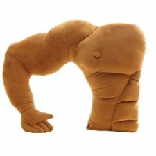 Great Muscular Body Pillow Soft Arm Muscular Styling Plush Doll Gift New