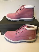 Timberland Nellie Boots Size 8.5 Pink Suede Nubuck Ankle Boots NIB