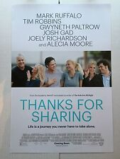 Thanks for Sharing Ver F 2013 Movie Poster 11x17 Print