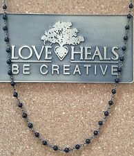 """Love Heals 24"""" Black Spinal Wire Wrapped Necklace NEW Retails $119.00"""