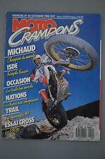 MOTO CRAMPONS N°44 SUZUKI 80 125 250 RM THIERRY MICHAUD SIMSON BIEBERBACH 1988