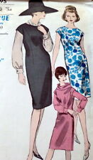 LOVELY VTG 1950s DRESS BODICE & SCARF VOGUE Sewing Pattern 12/32