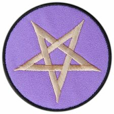Pentagram Satanic 666 Pentacle Occult Goth Daemon Wicca Star Iron-On Patch #0702