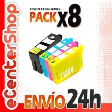 8 Cartuchos T1001 T1002 T1003 T1004 NON-OEM Epson Stylus Office B40W 24H