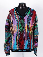 COOGI V-neck Sweater - SUPER COLORFUL - Cosby Ugly Biggie - XL