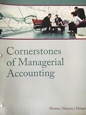 Cornerstone Of Managerial Accounting 5th Edition ISBN: 9781285886377